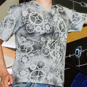 """Эффектное преображение обычной серой футболки - Магазин """"Хоббилэнд"""""""