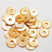 """Набор перламутровых бусин """"Оранжевые кольца малые"""", 30 шт., 15 мм - Бусины"""