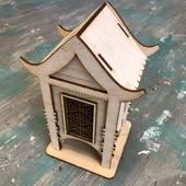 """Заготовка """"Чайный домик с орнаментом"""", 100х100х210 мм - Чайные домики"""