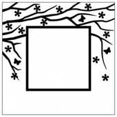 """Папка для тиснения """"Квадратная рамка"""" - Папки/подложки для тиснения"""