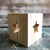 Подсвечник деревянный со звездой - Другое