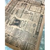 """Упаковочная бумага """"Газета"""" 51*72 см - Упаковочные пакеты"""