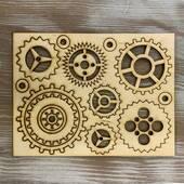 Набор шестеренок из фанеры - Фигурные заготовки