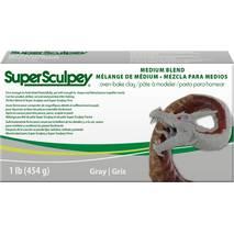 Пластика для творчества Super Sculpey Medium Blend, Gray, 1 lb. (454 г) - Запекаемая полимерная глина