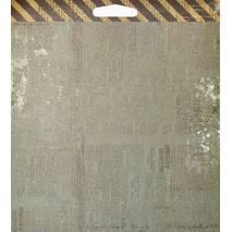 Бумага для скрапбукинга, 15х15 см, «Stationer`s Desk» - Односторонняя скрап бумага