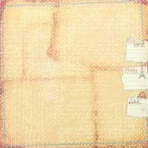 Бумага для скрапбукинга, 15 х 15 см, «En Français» - Односторонняя скрап бумага