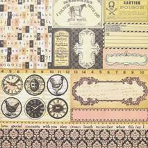 Бумага для скрапбукинга, 15 х 15 см, «Almanac» - Односторонняя скрап бумага