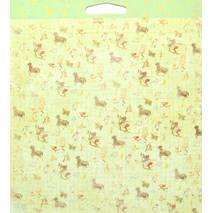 Бумага для скрапбукинга, 15 х 15 см, Ночные звезды - Двухсторонняя скрап бумага