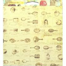 Бумага для скрапбукинга, 15 х 15 см, «Bella Rouge» - Двухсторонняя скрап бумага