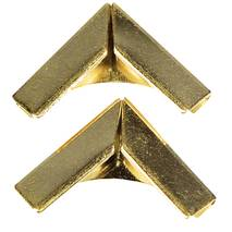 Уголки металлические, ЗОЛОТО, 14х14 мм, 4 шт. - Уголки
