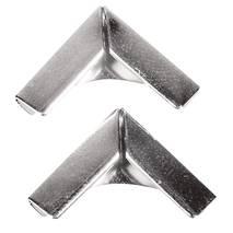 Уголки металлические, СЕРЕБРО, 14х14 мм, 4 шт. - Уголки