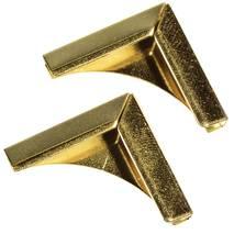 Уголки металлические, ЗОЛОТО, 21х21 мм, 4 шт. - Уголки