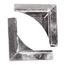 Уголки металлические, СЕРЕБРО, 21х21 мм, 4 шт. - Уголки