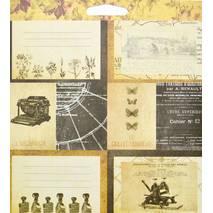 Бумага для скрапбукинга, 15 х 15 см, «Archivist» - Двухсторонняя скрап бумага