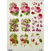 3Д-аппликация «Розовые цветы», 210х297 мм - 3D - аппликации