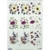 3Д-аппликация «Фиолетовые цветы», 210х297 мм - 3D - аппликации