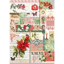 Декупажная карта «Рождественский цветок», 30*50 см - Декупажные карты
