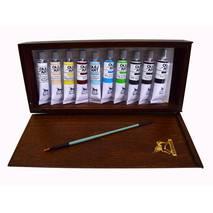 Подарочный набор масляных красок, 20 мл х 10 шт., кисть - Художественные краски