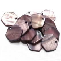 """Набор перламутровых бусин """"Фиолетовые соты"""", 16 шт., 20 мм - Бусины"""