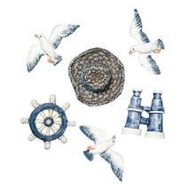 """Набор декоративных элементов """"Пляж"""", 2-4 см, 6 шт. - Объемные элементы"""