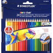Набор цветных акварельных карандашей, 24 штуки, Noris Club, STAEDTLER - Скетчинг