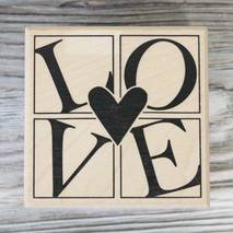"""Штамп резиновый """"Love"""", 6х6 см - Штампы"""