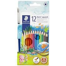 Набор цветных акварельных карандашей, 12 штук, Noris Club, STAEDTLER - Скетчинг