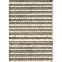 Фетр с рисунком «Алфавит», 50х70 см - Фетр