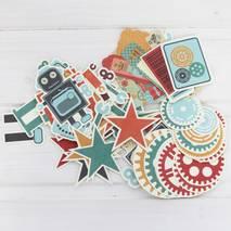 """Набор декоративных бумажных элементов """"Техно!"""", 61 шт. - Бумажные элементы"""