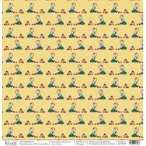 """Игра - бумага из набора """"Девчонки"""", 30,5х30,5 см - Односторонняя скрап бумага"""