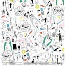 "Инструменты - бумага для творчества, ""Scrapgirl"", 30,5х30,5 см - Односторонняя скрап бумага"