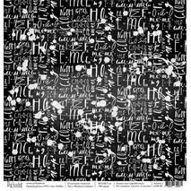Физика и химия - бумага для творчества, «Школа», 30,5х30,5 см - Односторонняя скрап бумага