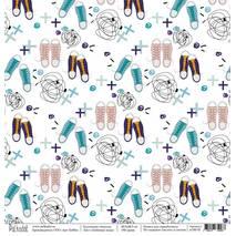 Любимые кеды - бумага для творчества, «Школа», 30,5х30,5 см - Односторонняя скрап бумага