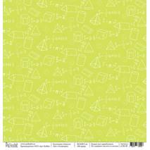 Геометрия - бумага для творчества, «Школа», 30,5х30,5 см - Односторонняя скрап бумага