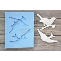 Молд комплект птица на ветке и ласточка - Инструменты