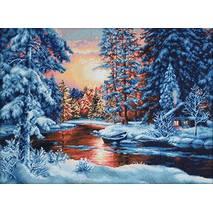 Набор для вышивания «Зимний пейзаж», 51х36,5 см - Вышивка