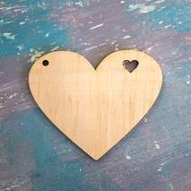 """Заготовка """"Сердце с сердцем"""" - Фигурные заготовки"""