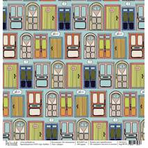 "Двери - бумага для творчества, ""На чемоданах"", 30,5х30,5 см - Односторонняя скрап бумага"