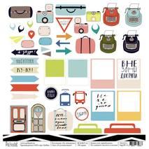 "Я записываю! - бумага для творчества, ""На чемоданах"", 30,5х30,5 см - Односторонняя скрап бумага"