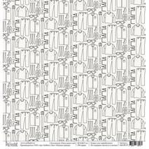 """Папина одежда - бумага для творчества, """"Папа может всё"""", 30,5х30,5 см - Односторонняя скрап бумага"""