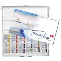 """Набор акварельных красок """"Белые ночи"""", 24 кюветы в пластиковой упаковке - Краски"""