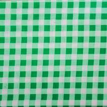 """Ткань """"Клетка"""" зеленая - Ленты, ткани"""
