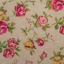 """Ткань """"Розы"""" бежевая - Ленты, ткани"""