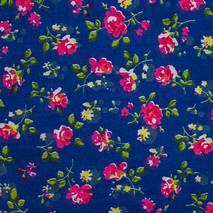 """Ткань """"Розы"""" синяя - Ленты, ткани"""