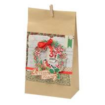 """Набор для изготовления подарочного пакета """"Ретро"""", 16х28 см - Упаковочные пакеты"""