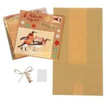 """Набор для изготовления подарочного пакета """"Снежные истории"""", 16х28 см - Упаковочные пакеты"""