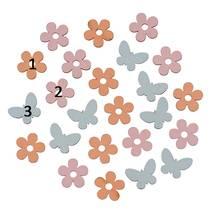 """Декоративный элемент """"Бабочки и цветы"""", 1,7х1,4 см - Объемные элементы"""
