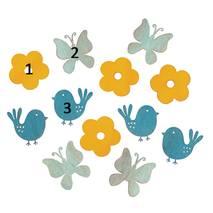 """Декоративный элемент """"Птички, бабочки, цветочки"""", 3х3,5 см - Объемные элементы"""
