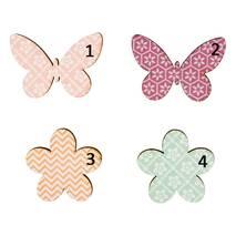 """Декоративный элемент """"Бабочки и цветы"""", 3-4 см - Объемные элементы"""