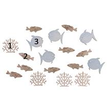 "Декоративный элемент ""Рыбки, кораллы"", 2 см - Объемные элементы"